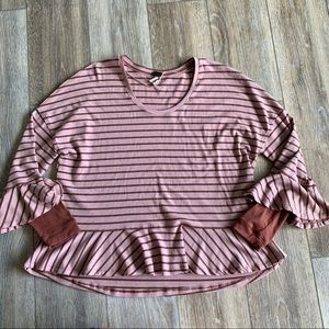 We the Free People Round About Striped Top Medium